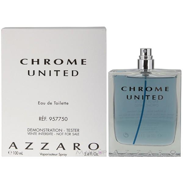 Azzaro Chrome United, Toaletní voda - Tester, 100ml, Pánska vôňa, + AKCE: dárek zdarma
