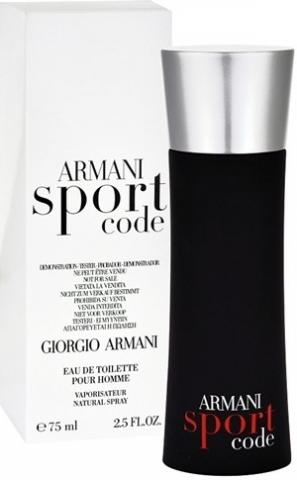 Giorgio Armani Code Sport, Toaletní voda - Tester, 75ml, Pánska vôňa, + AKCE: dárek zdarma