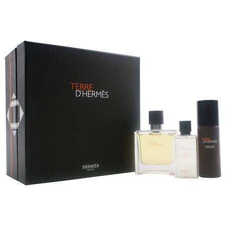 Hermes Terre D´Hermes Parfum, Dárková sada, parfémovaná voda 75ml + voda po holení 40ml + pěna na holení 50ml, Pánska vôňa