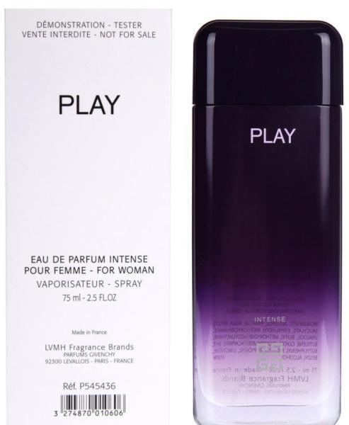 Givenchy Play for Her Intense, Parfémovaná voda - Tester, 75ml, Dámska vôňa, + AKCE: dárek zdarma