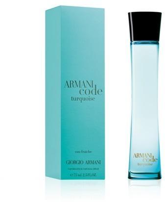 Giorgio Armani Code Turquoise for Woman, Toaletní voda, 75ml, Dámska vôňa, + AKCE: dárek zdarma