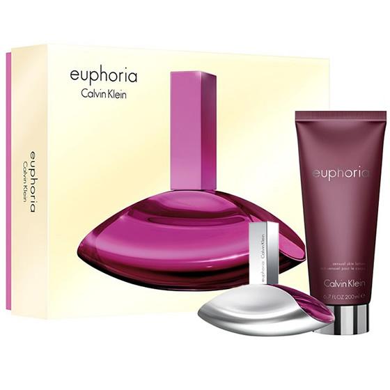 Calvin Klein Euphoria Woman, Dárková sada, parfémovaná voda 30ml + tělové mléko 100ml, Dámska vôňa