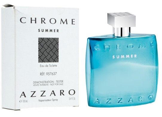 Azzaro Chrome Summer, Toaletní voda - Tester, 100ml, Pánska vôňa, + AKCE: dárek zdarma
