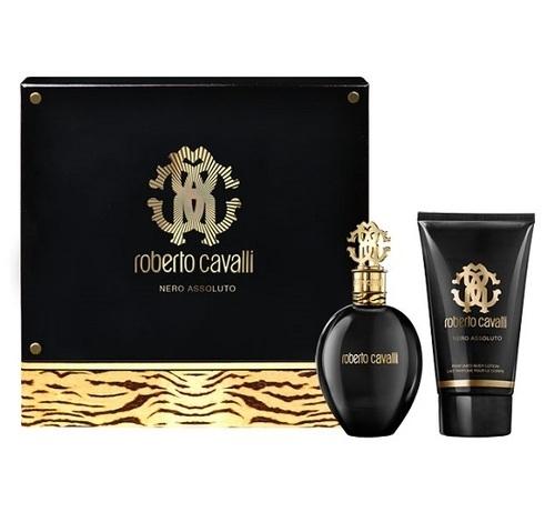 Roberto Cavalli Nero Assoluto, Dárková sada, parfémovaná voda 50ml + tělové mléko 75ml, Dámska vôňa, + AKCE: dárek zdarma