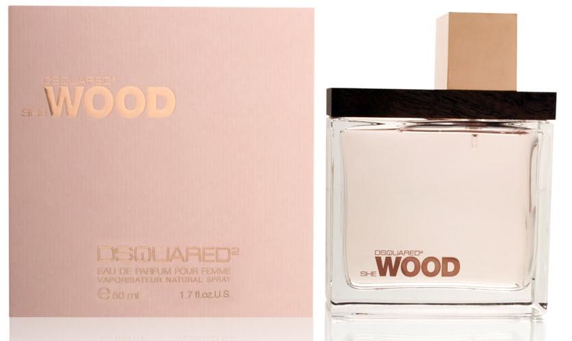 Dsquared2 She Wood, Parfémovaná voda, 50ml, Dámska vôňa, + AKCE: dárek zdarma