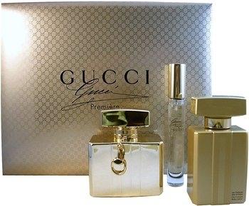 Gucci Premiere, Dárková sada, parfémovaná voda 75ml + parfémovaná voda 7.4ml + tělové mléko 100ml, Dámska vôňa, + AKCE: dárek zdarma