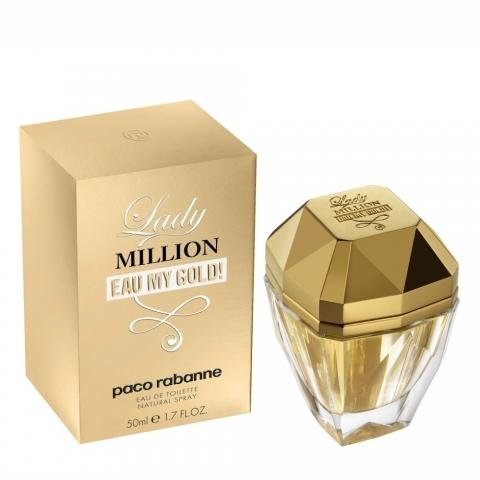 Paco Rabanne Lady Million eau my gold, Toaletní voda, 50ml, Dámska vôňa, + AKCE: dárek zdarma