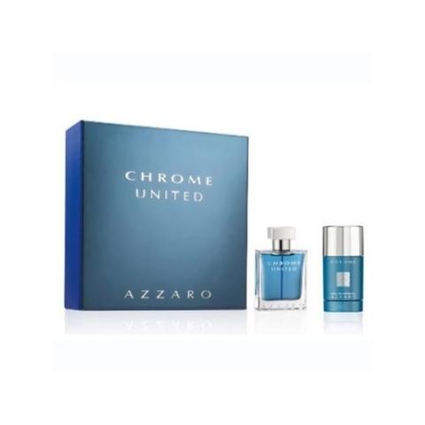 Azzaro Chrome United, Dárková sada, toaletní voda 100ml + deostick 75ml, Pánska vôňa, + AKCE: dárek zdarma