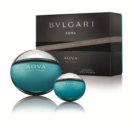 Bvlgari Aqva pour Homme, Dárková sada, toaletní voda 100ml + toaletní voda 15ml, Pánska vôňa, + AKCE: dárek zdarma