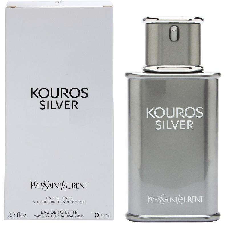 Yves Saint Laurent Kouros Silver, Toaletní voda - Tester, 100ml, Pánska vôňa, + AKCE: dárek zdarma