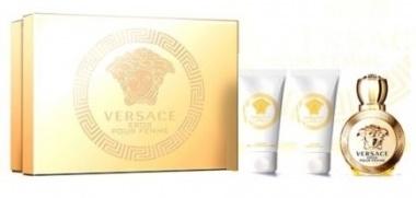 Versace Eros Pour Femme, Dárková sada, parfémovaná voda 50ml + tělové mléko 50ml + sprchový gel 50ml, Dámska vôňa, + AKCE: dárek zdarma