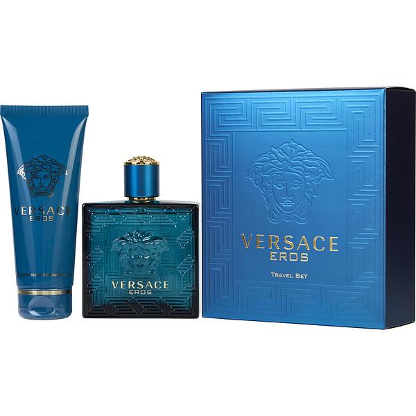 Versace Eros, Dárková sada, toaletní voda 100ml + sprchový gel 100ml, Pánska vôňa, + AKCE: dárek zdarma