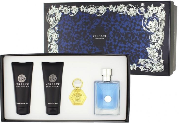Versace Versace pour Homme, Dárková sada, toaletná voda 100ml + 100ml balzám po holení + 100ml sprchový gél + kľúčenka, Pánska vôňa, + AKCE: dárek zdarma