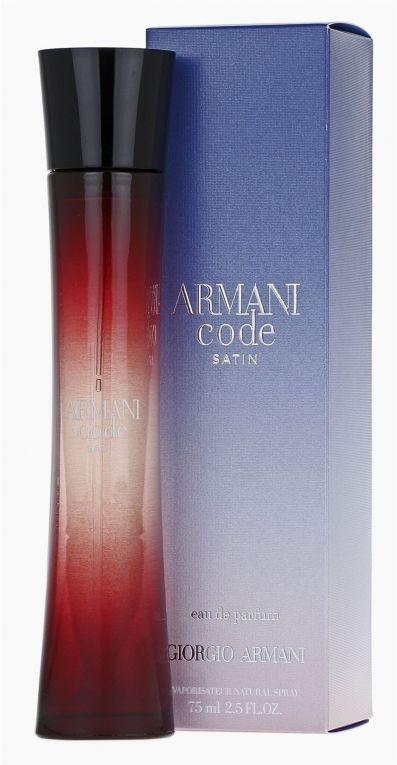 Giorgio Armani Code Satin , Parfémovaná voda, 75ml, Dámska vôňa, + AKCE: dárek zdarma