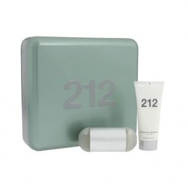 Carolina Herrera 212 Woman, Dárková sada, toaletní voda 100ml + tělové mléko 200ml (Metal Box), Dámska vôňa, + AKCE: dárek zdarma