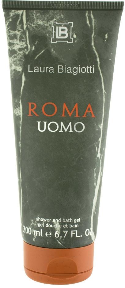 Laura Biagiotti Roma Uomo, Sprchový gel, 200ml, Pánska vôňa, + AKCE: dárek zdarma