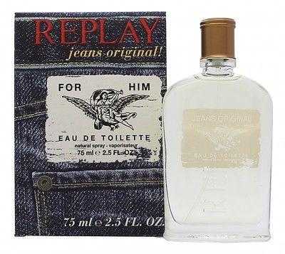 Replay Jeans Original for Him, Toaletní voda, 75ml, Pánska vôňa, + AKCE: dárek zdarma