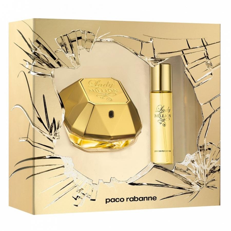 Paco Rabanne Lady Million, Dárková sada, parfémovaná voda 50ml + parfémovaná voda 15ml, Dámska vôňa, + AKCE: dárek zdarma