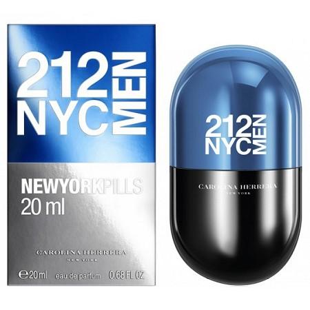 Carolina Herrera 212 Men, Toaletní voda, 20ml, Pánska vôňa, + AKCE: dárek zdarma