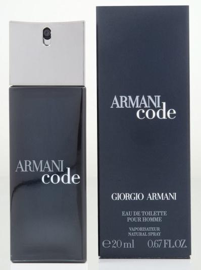 Giorgio Armani Black Code, Toaletní voda, 20ml, Pánska vôňa, + AKCE: dárek zdarma