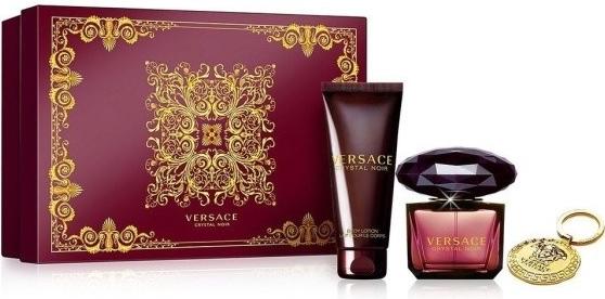 Versace Crystal Noir, Dárková sada, toaletní voda 90ml + tělové mléko 100ml + klíčenka, Dámska vôňa, + AKCE: dárek zdarma