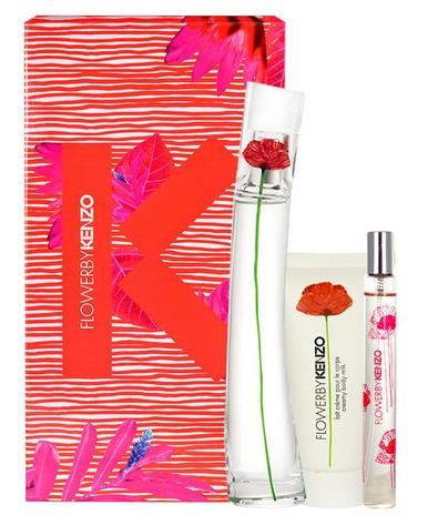 Kenzo Flower by Kenzo, Dárková sada, parfémovaná voda 100ml + parfémovaná voda 15ml + tělové mléko 50ml, Dámska vôňa, + AKCE: dárek zdarma