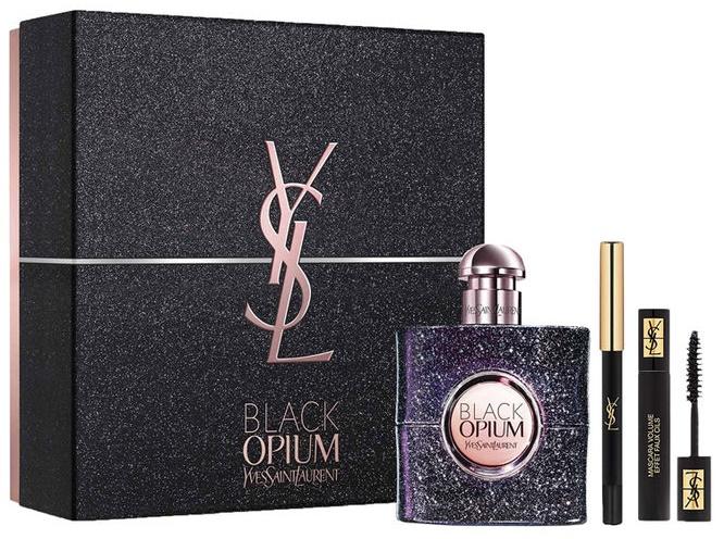 Yves Saint Laurent Opium Black Nuit Blanche, Dárková sada, parfémovaná voda 50ml + 2ml mascara + 8gr oční tužka, Dámska vôňa, + AKCE: dárek zdarma