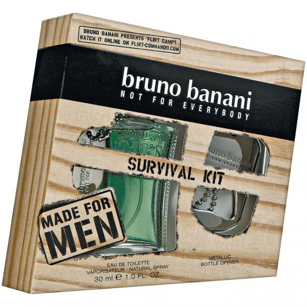 Bruno Banani Made for Men, Dárková sada, toaletní voda 30ml + otvírák na lahve , Pánska vôňa, + AKCE: dárek zdarma