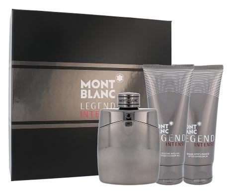 Mont Blanc Legend Intensé, Dárková sada, toaletní voda 100ml + sprchový gel 100ml + balzám po holení 100ml, Pánska vôňa, + AKCE: dárek zdarma