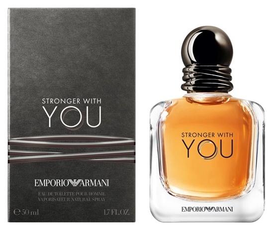 Giorgio Armani Stronger With You, Toaletní voda, 50ml, Pánska vôňa, + AKCE: dárek zdarma