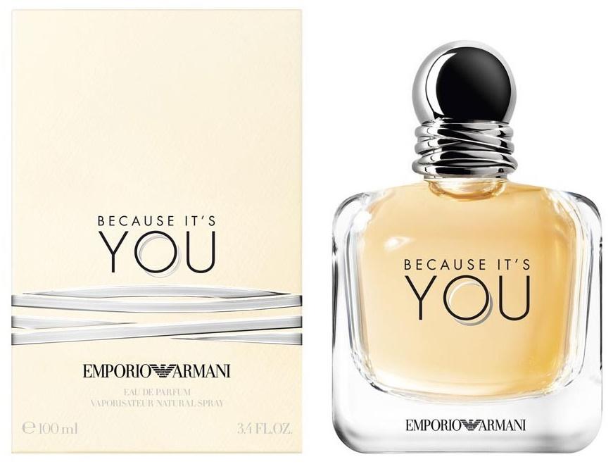 Giorgio Armani Because It's is You, Parfémovaná voda, 100ml, Dámska vôňa, + AKCE: dárek zdarma