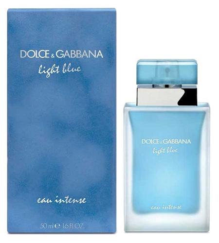 Dolce & Gabbana Light Blue Eau Intense, Parfémovaná voda, 50ml, Dámska vôňa, + AKCE: dárek zdarma