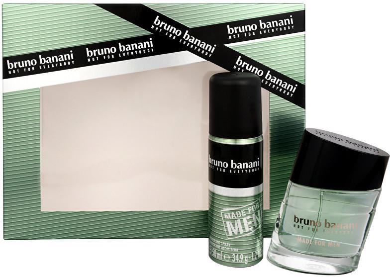 Bruno Banani Made for Men, Dárková sada, toaletní voda 30ml + deospray 50ml, Pánska vôňa