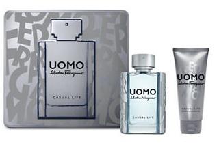 Salvatore Ferragamo Uomo Casual Life, Dárková sada, toaletní voda 50ml + sprchový gel 100ml, Pánska vôňa