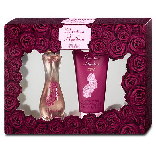 Christina Aguilera Touch of Seduction, Dárková sada, parfémovaná voda 30ml + sprchový gel 50ml, Dámska vôňa, + AKCE: dárek zdarma