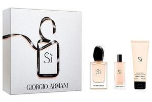 Giorgio Armani Si, Dárková sada, parfémovaná voda 50ml + tělové mléko 75ml + parfémovaná voda 15ml, Dámska vôňa, + AKCE: dárek zdarma