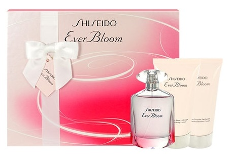 Shiseido Ever Bloom, Dárková sada, parfémovaná voda 50ml + tělové mléko 50ml + sprchový gel 50ml, Dámska vôňa, + AKCE: dárek zdarma