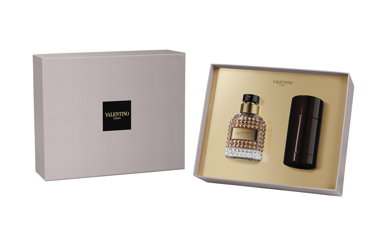 Valentino Valentino Uomo, Dárková sada, toaletní voda 50ml + deostick 75ml, Pánska vôňa, + AKCE: dárek zdarma