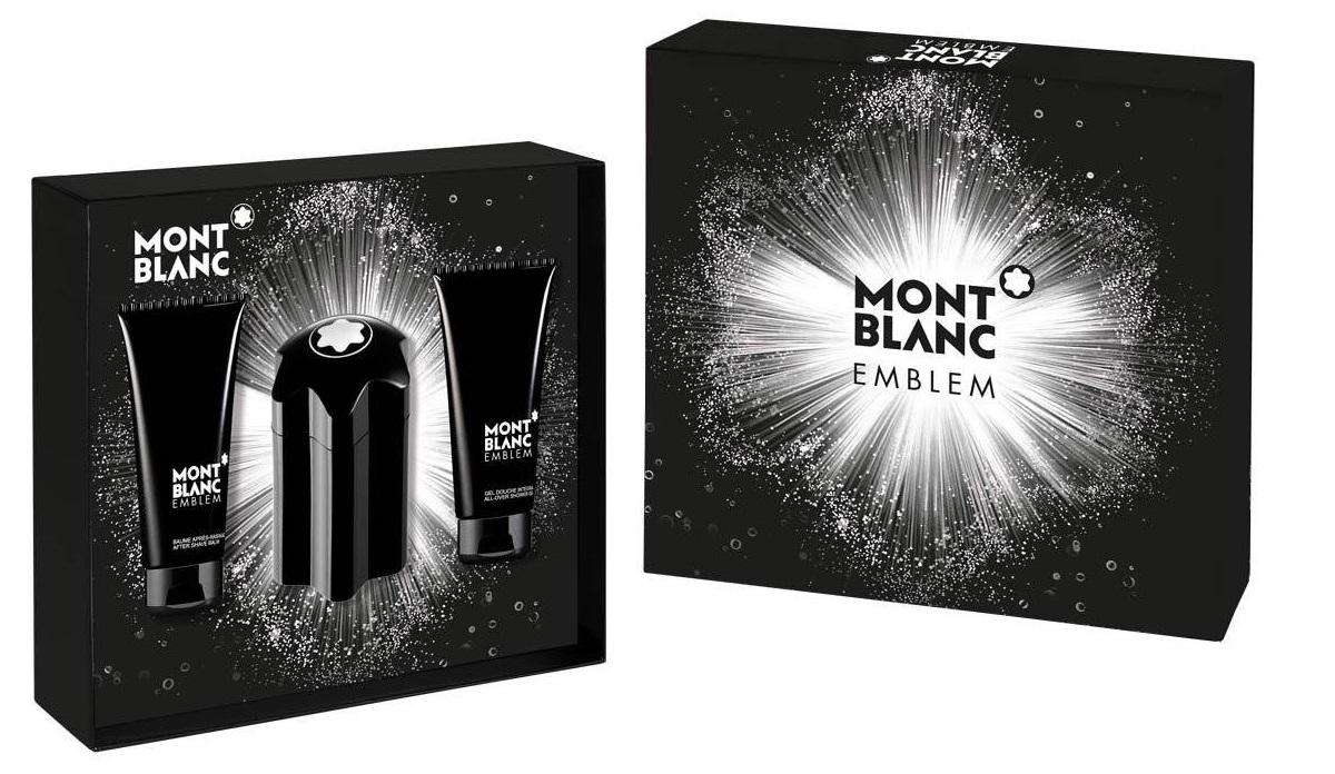 Mont Blanc Emblem, Dárková sada, toaletní voda 100ml + toaletní voda 1.2ml + balzám po holení 100ml + sprchový gel 100ml, Pánska vôňa