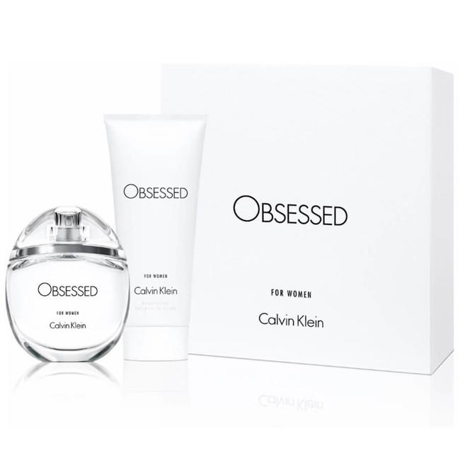 Calvin Klein Obsessed, Dárková sada, parfémovaná voda 50ml + tělové mléko 100ml, Dámska vôňa