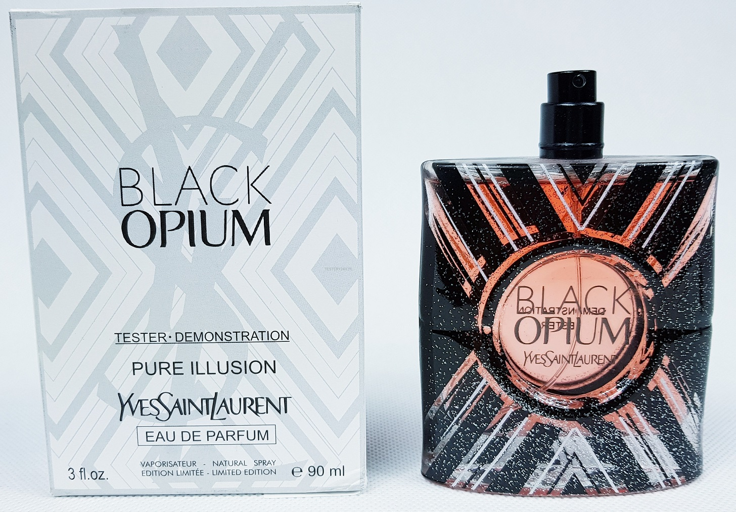 Yves Saint Laurent Black Opium Pure Illusion, 90ml, Parfémovaná voda - Tester