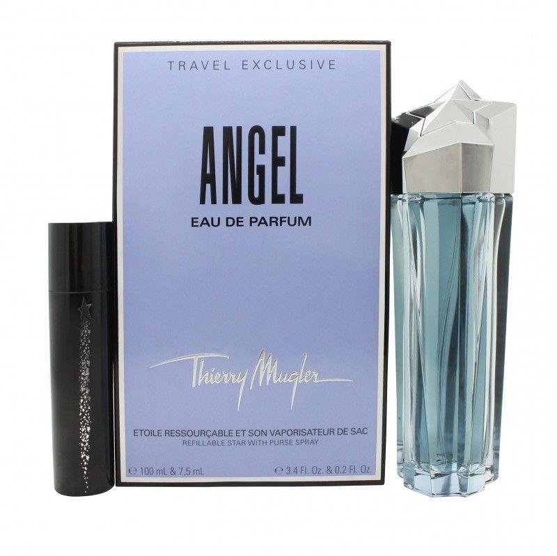 Thierry Mugler Angel, Dárková sada, parfémovaná voda 100ml + parfémovaná voda 7.5ml (plnitelný), Dámska vôňa