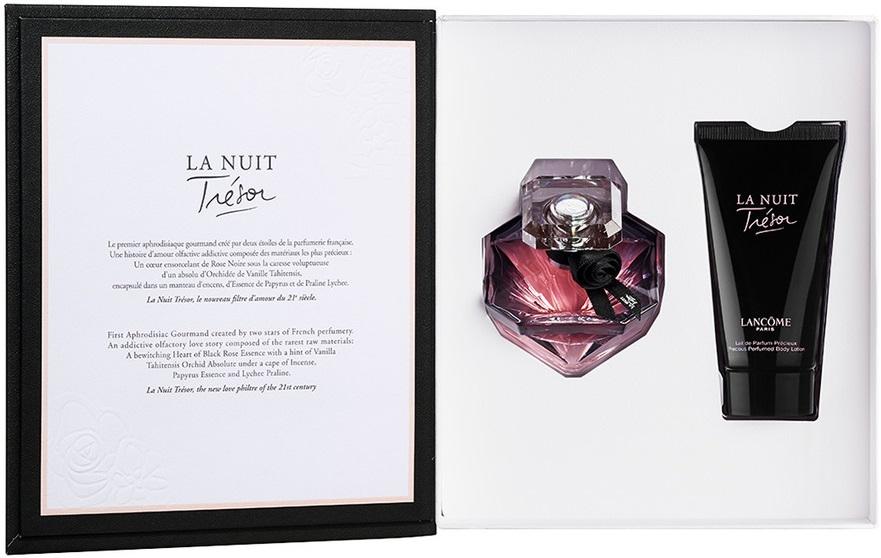 Lancome Tresor La Nuit, parfémovaná voda 30ml + tělové mléko 50ml, Dárková sada