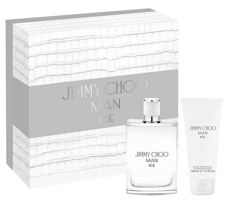 Jimmy Choo Man Ice, Dárková sada, toaletní voda 100ml + balzám po holení 100ml, Pánska vôňa