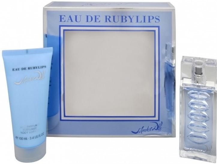 Salvador Dali Eau de Ruby Lips, Toaletní voda, toaletní voda 50ml + tělové mléko 100ml, Dámska vôňa
