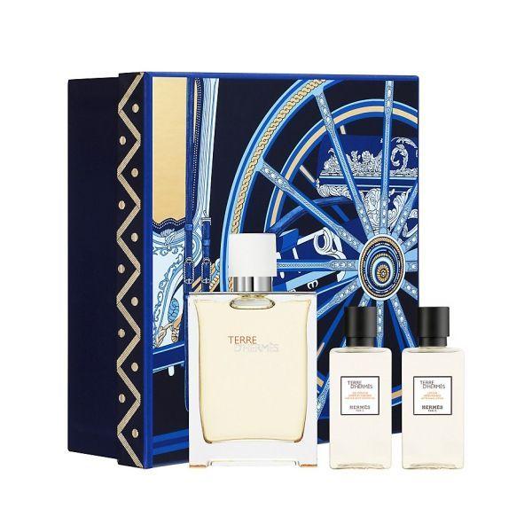 Hermes Terre D´Hermes Eau Tres Fraiche, Dárková sada, Pánska vôňa, toaletní voda 125ml + sprchový gel 40ml + voda po holení 40ml