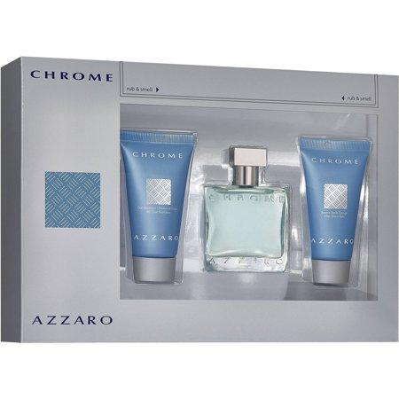 Azzaro Chrome, Dárková sada, toaletní voda 100ml + balzám po holení 75ml + sprchový gel 75ml, Pánska vôňa