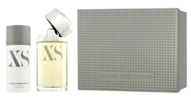 Paco Rabanne XS Pour Homme, Dárková sada, toaletní voda 100ml + deospray 150ml, Pánska vôňa