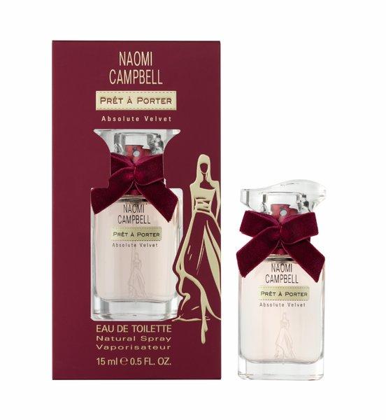 Naomi Campbell Prét a Porter Absolute Velvet, 15ml, Toaletní voda