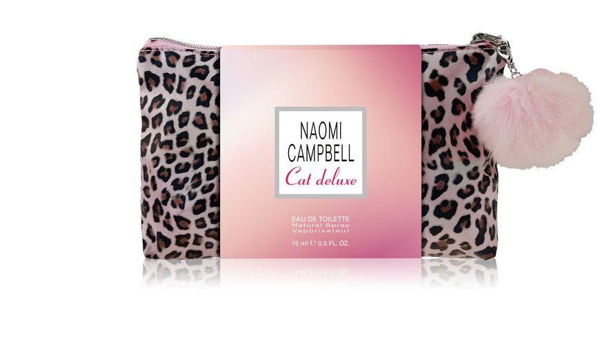 Naomi Campbell Cat Deluxe, toaletní voda 15ml + taška, Dárková sada